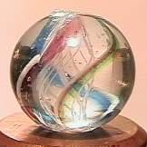 """68050: 68050 BB Marbles: Latticinio Swirl 1/2"""" 8.8"""
