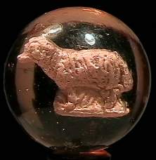 """BB Marbles: Sheep Sulphide 1-1/2"""" 8.4"""