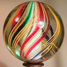 """BB Marbles: 3-Layer Solid Swirl 1-7/8"""" Pol."""