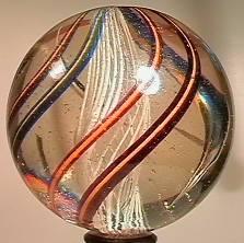 """BB Marbles: Latticinio Core Swirl 1-15/16"""""""