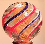 """71011 BB Marbles: Latticinio Swirl 1-5/16"""" 9.1"""