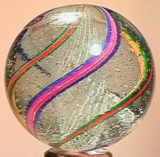"""BB Marbles: Latticinio Swirl 1-7/16"""" 8.6"""