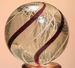 """BB Marbles: Latticinio Swirl 1-1/16"""" 9.0"""