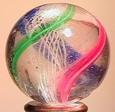"""BB Marbles: Latticinio Swirl 1-1/16"""" 8.2"""