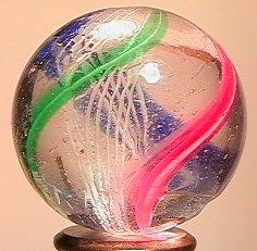 """71015 BB Marbles: Latticinio Swirl 1-1/16"""" 8.2"""