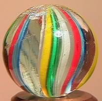 """BB Marbles: Latticinio Swirl 11/16"""" 9.6"""