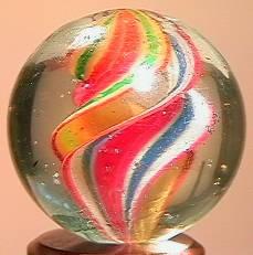 """BB Marbles: Ribbon Swirl 27/32"""" 8.8"""