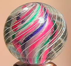 """BB Marbles: 3-Layer Solid Swirl 15/16"""" 9.8"""