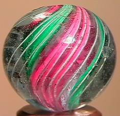 """BB Marbles: Divided Swirl 27/32"""" 9.1"""