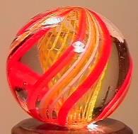 """BB Marbles: Latticinio Swirl 21/32"""" 9.7"""