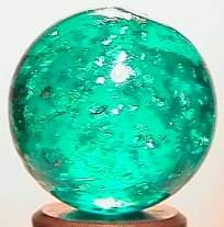 """BB Marbles: Aqua Mica 27/32"""" 8.6"""