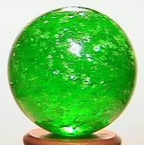 "BB Marbles: Emerald Green Mica 27/32"" 9.9"