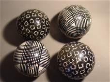 72018: 72018 BB Marbles: 4 Antique Carpet Balls