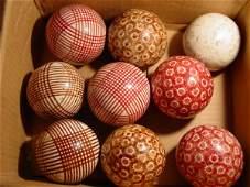 72019: 72019 BB Marbles: 9 Antique Carpet Balls, Full S