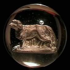 """73002 BB Marbles: Dog Sulphide 1-15/16"""" Polished"""