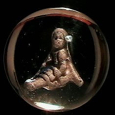 """73003: 73003 BB Marbles: Sulphide Girl in Chair 2-1/16"""""""