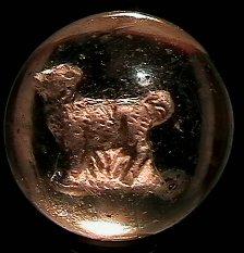 """73004: 73004 BB Marbles: Deer Sulphide 1-11/16"""" 7.9"""