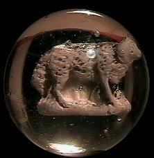 """73007: 73007 BB Marbles: Sheep Sulphide 1-7/16"""" 8.9"""