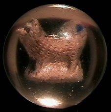 """73008: 73008 BB Marbles: Dog Sulphide 1-7/16"""" 8.6"""
