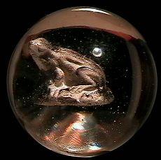 """73011 BB Marbles: Frog Sulphide 1-7/16"""" Polished"""