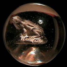 """73011: 73011 BB Marbles: Frog Sulphide 1-7/16"""" Polished"""