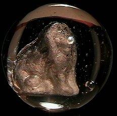"""73014: 73014 BB Marbles: Lion Sulphide 1-7/16"""" Polished"""