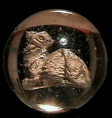 73016: 73016 BB Marbles: Seated Camel Sulphide 1-5/16 9