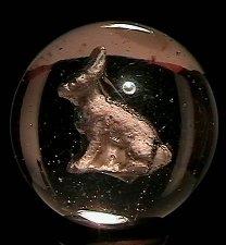 "73019: 73019 BB Marbles: Rabbit Sulphide 1-3/16"" Polish"