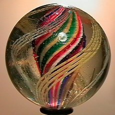 """73020: 73020 BB Marbles: Divided Core Swirl 1-15/16"""" 7."""