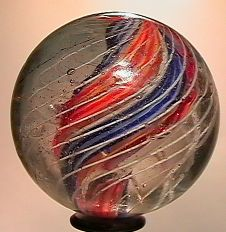 """73021 BB Marbles: Divided Core Swirl 1-3/4"""" 8.0"""