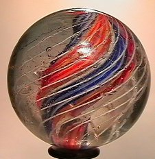 """73021: 73021 BB Marbles: Divided Core Swirl 1-3/4"""" 8.0"""