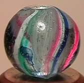 """73091: 73091 BB Marbles: Latticinio Swirl 17/32"""" 9.7"""