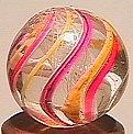 """74002: 74002 BB Marbles: Latticinio Swirl 5/8"""" 8.9"""