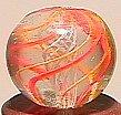 """74004: 74004 BB Marbles: Latticinio Swirl 17/32"""" 9.8"""
