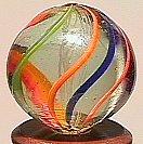 """74005: 74005 BB Marbles: Latticinio Swirl 11/16"""" 9.0"""