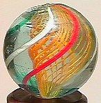 """74006: 74006 BB Marbles: Latticinio Swirl 3/4"""" 9.5"""