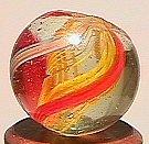 """74008: 74008 BB Marbles: Latticinio Swirl 19/32"""" 9.7"""