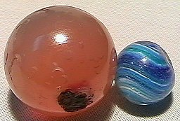 74016: 74016 BB Marbles: Onionskin & Handcut Agate