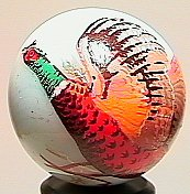 74018: 74018 BB Marbles: Pheasant Character Marble