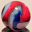 """74022: 74022 BB Marbles: Akro Blue Oxblood 21/32"""" 9.5"""