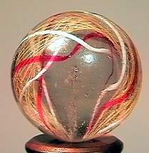 "75003 BB Marbles: Folded Latticinio Swirl 27/32"""