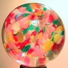 75006 BB Marbles: Rare Confetti Ribbon Marble