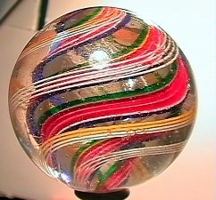 """75007: 75007 BB Marbles: Divided Swirl 2-1/8"""" 8.4"""