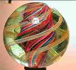 """75008 BB Marbles: Divided Swirl 1-13/16"""" 8.9"""