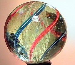 """75009: 75009 BB Marbles: Latticinio Swirl 1-5/8"""" 9.9"""