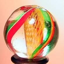 """75011 BB Marbles: Latticinio Swirl 7/8"""" 9.9"""