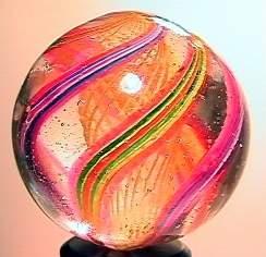 """75012 BB Marbles: Latticinio Swirl 1-1/8"""" 8.8"""