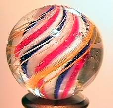 """75013 BB Marbles: Solid Core Swirl 7/8"""" 8.6"""