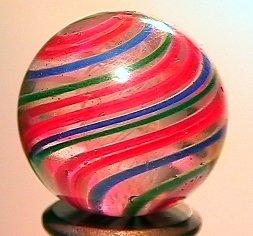 """75015: 75015 BB Marbles: Latticinio Swirl 13/16"""" 8.8"""