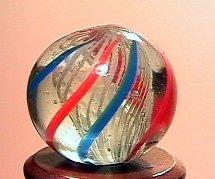 """75016: 75016 BB Marbles: Latticinio Swirl 9/16"""" 9.8"""